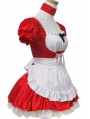 Red and White French Maid Lolita Dress