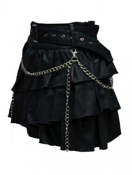 Black Gothic Punk Short Skirt Devilnight Co Uk