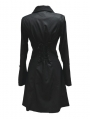 Black Long Sleeves High-Low Gothic Jacket for Women