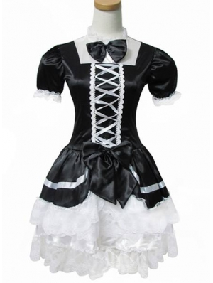 Black and White French Maid Lolita Dress