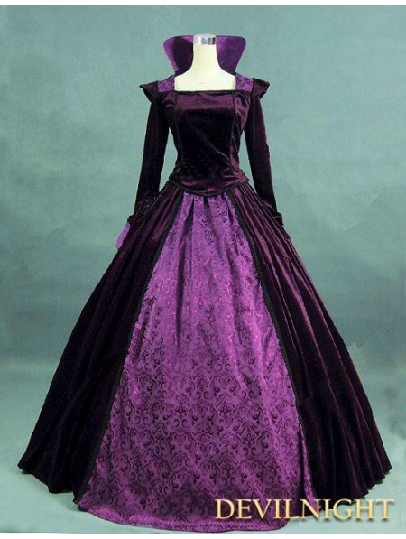 Purple Velvet And Satin Victorian Queen Costume