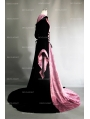 Purple and Black Velvet Gothic Hooded Medieval Dress