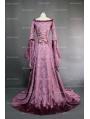 Purple Fantasy Velvet Medieval Gown