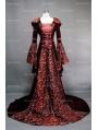 Fantasy Velvet Hooded Medieval Gown