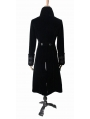Black Vintage Court Style Gothic Coat for Women