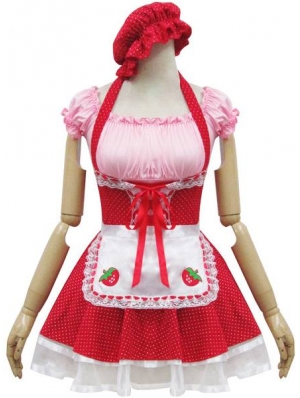 Strawberry Sweet French Maid Lolita Dress