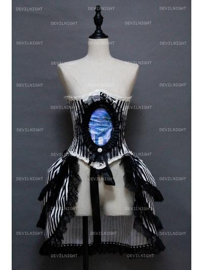 Gothic Corset Steampunk Burlesque Party Dress