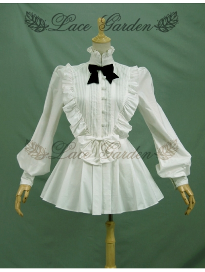 White Gothic Lolita Blouse for Women