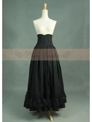 Black High Waist Gothic Skirt