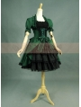 Green and Black Long Sleeves Gothic Lolita Dress