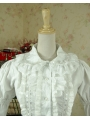 White Sweet Rococo Lolita Blouse for Women
