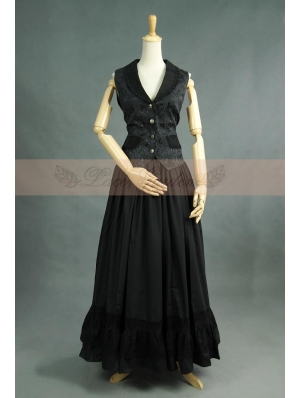 Black Gothic Two Piece Suit