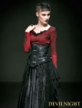 Black Rose Decoration Leather and Lace Gothic Underbust Corset