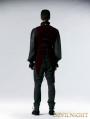 Wine Red Gothic Velveteen Detachable Vest with Swallow Tail for Men