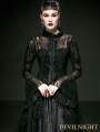 Romantic Black Gothic Lace Blouse for Women