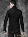 Alternative Black Gothic Asymmetric Jacket for Men