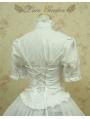 White Short Sleeves Lolita Blouse