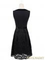 Fashion Black Sleeveless Lace Gothic Party Dress