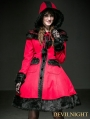 Red Woolen Lolita Coat with Hat