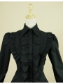 Black High-Low Gothic Blouse for Women