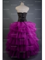 Fashion Gothic Corset Burlesque Long Prom Party Dress