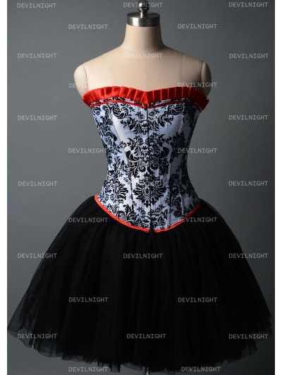 Fashion Short Gothic Corset Burlesque Party Dress