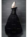 Roamtic Black Gothic Corset Long Prom Party Dress