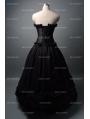 Roamtic Black Gothic Corset Long Prom Party Dress