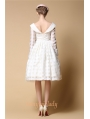 White Organza Backless Vintage 1950s Party Dress