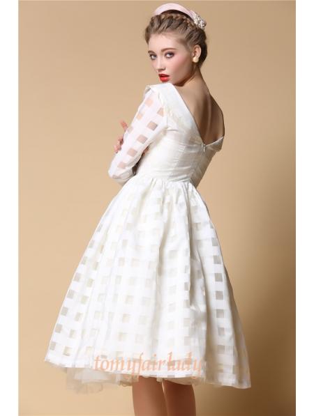 White Organza Backless Vintage 1950s Party Dress - Devilnight.co.uk