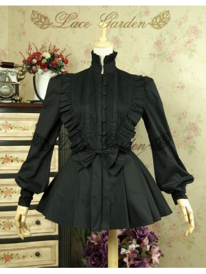 Black Gothic Lolita Blouse for Women