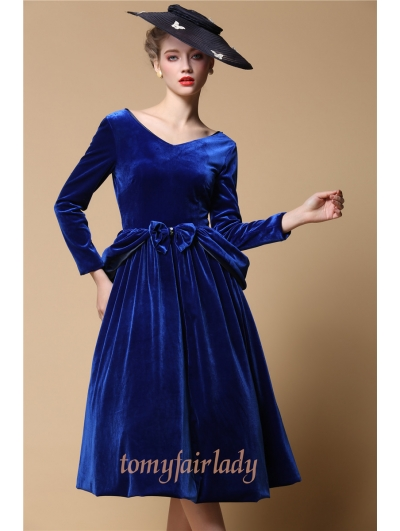 Blue velvet dress uk