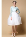 White and Blue Fancy Vintage 1950s Farty Dress