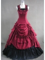 Red and Black Classic Gothic Ball Gowns