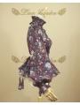 Purple Printed Vintage Sweet Rococo Lolita Blouse