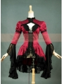 Satin and Lace Long Sleeves Gothic Blouse