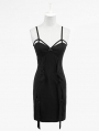 Black Sexy V-Back Kintting Strap Gothic Dress