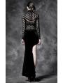 Black Velvet Irregular Gothic Skirt