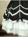 White and Black Sweet Lolita Skirt