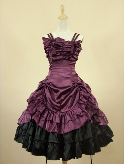 Purple Short Gothic Lolita Dress
