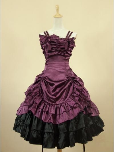 Purple Short Gothic Lolita Dress