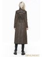Brown Heavy Metal Vintage Gothic Steampunk Coat for Women