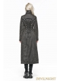 Gray Heavy Metal Vintage Gothic Steampunk Coat for Women