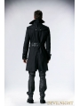Black Army Style Gothic Coat for Men