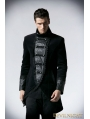 Black Double Breasted Gothic Jacket for Men
