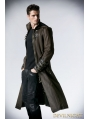 Coffee Vintage Gothic Steampunk Coat for Men