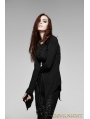 Black Long Sleeves Alternative Gothic Shirt for Women