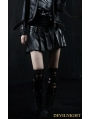 Black PU Gothic Punk Short Skirt