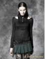 Green Gothic Punk Short Skirt