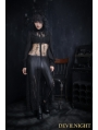 Black Lace Gothic Long Blouse for Women